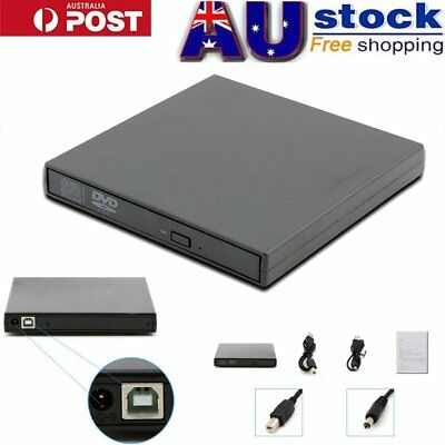 USB 2.0 External DVD Player Reader CD RW Burner Drive for PC Laptop MAC New