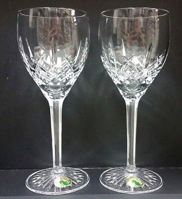 Waterford Wine Glasses Crystal Lismore Classic White Glass 14 oz - Set of 2