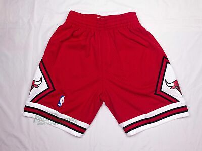 NEW Chicago Bulls 1997-98 Hardwood Classics Red Shorts by Mitchell & Ness