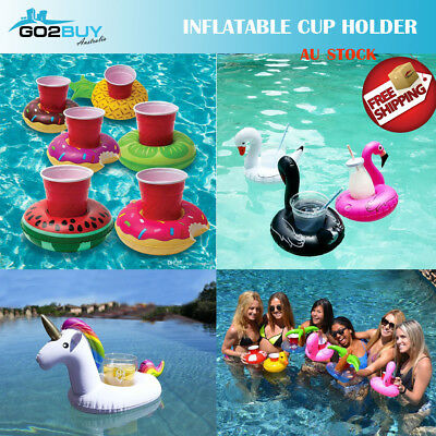 Inflatable Floating Drink Cup Can Beer Holder Swimming Pool Bath Beach Party