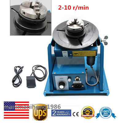 "Auto Rotary Welding Positioner Turntable Mini 2.5"" 3 Jaw Lathe Chuck 10KG Sale"