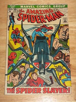 Amazing Spider-Man  105  High Grade Unhandled  Bronze Age Marvel Comics  LOOK