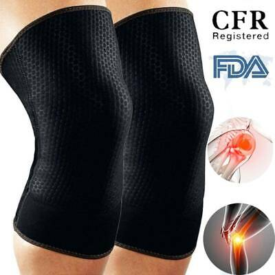 M-3XL Knee Brace Patella Support Sports Guard Protector Compression Sleeve CFR