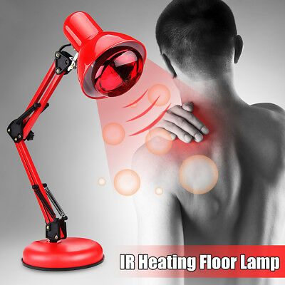 Infrared Red Heat Light Therapeutic Therapy Lamp Pain Relief Floor Stand 275W