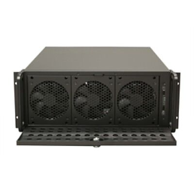 Rosewill Case RSV-L4500 Server 4U 15Bays 8Fans USB E-ATX Black Metal/Steel