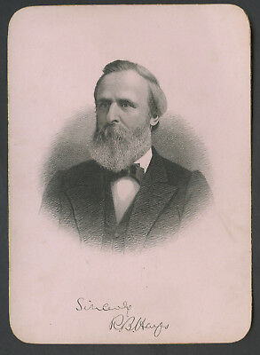 C. 1900 Presidential Cabinet Style Engraving Rutherford B Hayes