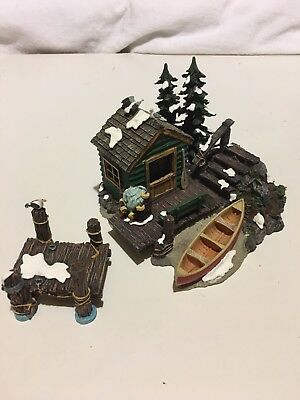 "Dept 56 ""The Dock House"" Village Accessories - Set of 2"