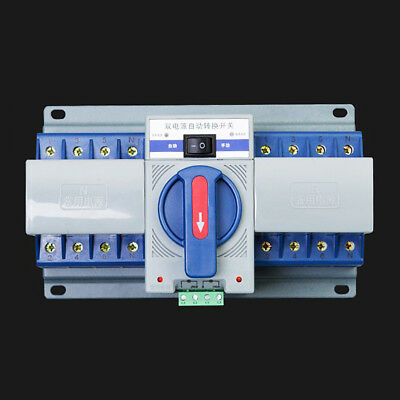 New 1Pcs 63A 2P 50HZ/60HZ Dual Power Automatic Transfer Switch 220×136×120mm