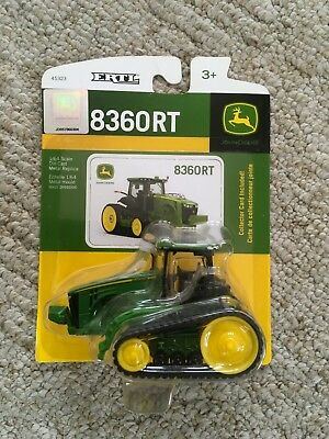 New Ertl 1/64 John Deere 8360RT Tractor Farm Toy Tracks with Collector Card