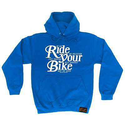 Cycling Hoodie Ride Your Bike hoody bicycle cycle funny Birthday sports HOODY