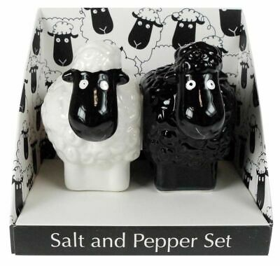 2pc Black Sheep Salt & Pepper Shaker Set Collectable - Gift Boxed