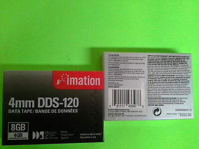 IMATION DDS-120 4mm DATA CARTRIDGE TAPE 43347 4GB Native 8GB Compressed  49D050