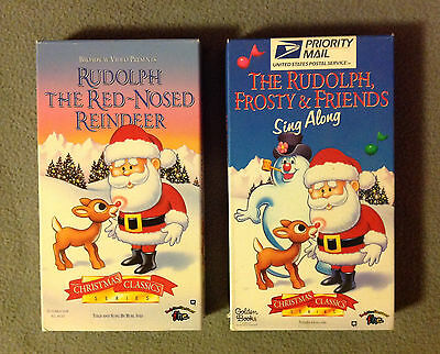 RUDOLPH THE Red Nosed Reindeer & Frosty the Snowman VHS ...
