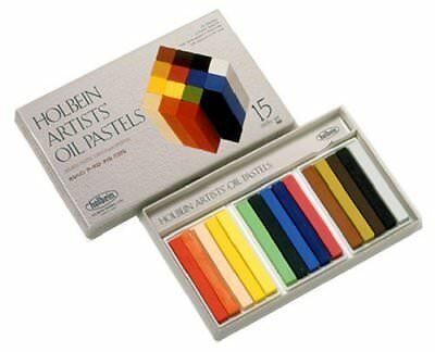 Holbein Artists' Oil Pastels - 15 Stick Boxed Set