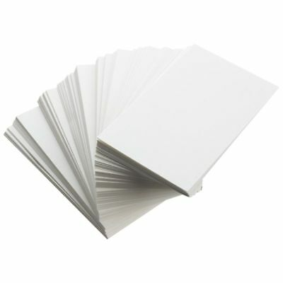 100pcs White Blank Business Cards 129gsm - 90 x 50mm - Print Your Own DTY Craft