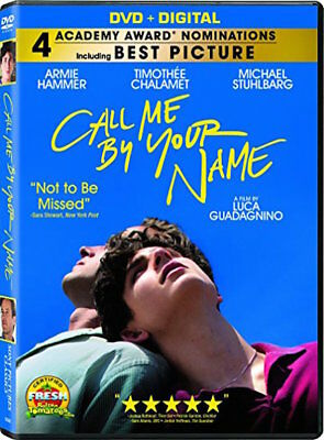 Call Me By Your Name Dvd - Single Disc Edition - New Unopened - Armie Hammer