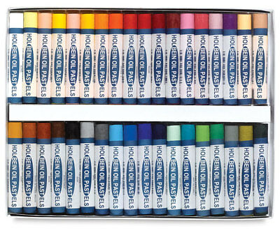 Holbein Student Oil Pastels - Boxed Set of 36 Large Round Sticks