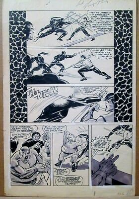 Deadly Hands of Kung Fu 6 GEORGE PEREZ ORIGINAL PAGE 1: PEREZ ART Sons of Dragon