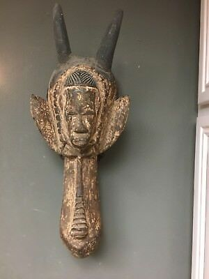 Ivo Nigeria Rare Old Antique African Tribal Animal Headdress Hand Carved Wood