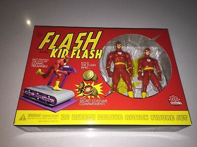 New Mint Vintage DC Direct Silver Age Flash And Kid Flash 2001 Rare Never Opened