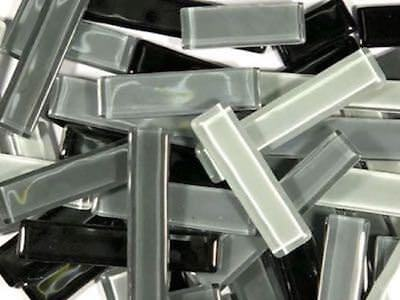 Grey Mixed Glass Rectangles | Mosaic Tiles Supplies Art Craft