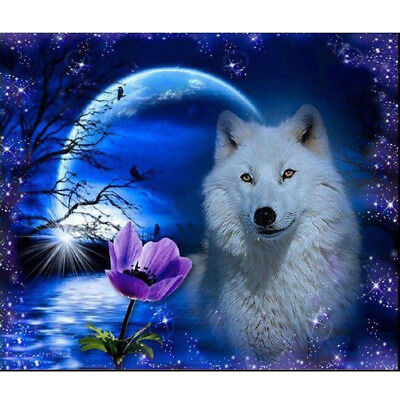5D DIY Wolf Diamond Painting Embroidery Cross Stitch Kit Home Room Decor NEW