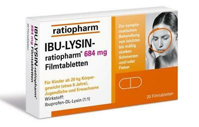 Ibu-Lysin-ratiopharm 684 mg Tabletten 20St PZN: 7628546