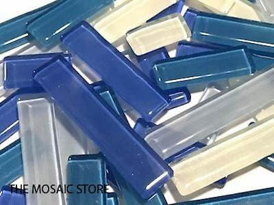 Ocean Mixed Glass Rectangles | Mosaic Tiles Supplies Art Craft