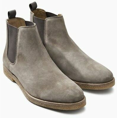 NEXT Men's Grey Colour Suede Slip On Chelsea Boots - sizes UK9 UK10