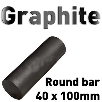 "Carbon Electrode Rod Graphite Stick 1.6"" x 4"" L round bar anode 40 x 100mm pure"