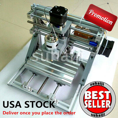 Mini 3-Axis CNC 1610 Router Engraver DIY Carving Machine PCB PVC Milling Wood US