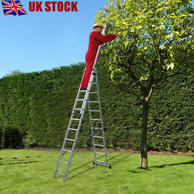 Multi Strong EN131 Triple & Double Section Aluminium Extension Ladder Tray Safe