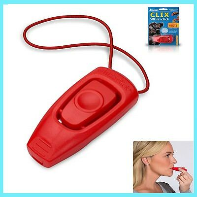 Dog Whistle&Clicker Clix Whizzclick Train Dog Training Guide Included Wipe Clean