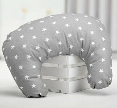 Nursing Breast Feeding Pillow Grey Stars Cushion Baby Support Maternity