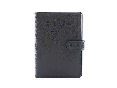 Authentic Louis Vuitton Black Taiga Agenda PM notebook cover