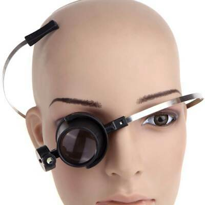 15X Magnifying Eye Glass Magnifier W/ LED Light Jewelry Loupe Watch Repair Tool