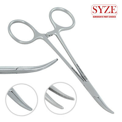 Artery Mosquito Clamp Hemostat Locking Forceps Curved 12cm Surgical Tools SYZE