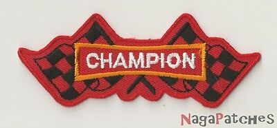 PP-11 Stemma ricamato toppa patch fusibile Champion