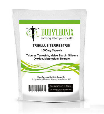 Tribulus Terrestris 1000mg CAPSULES Max Strength Bodygenix UK Manufactured