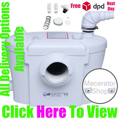Macerator Sanitary Pump 3 in 1 Silent Pump Carbon Filtr Best Option 400W