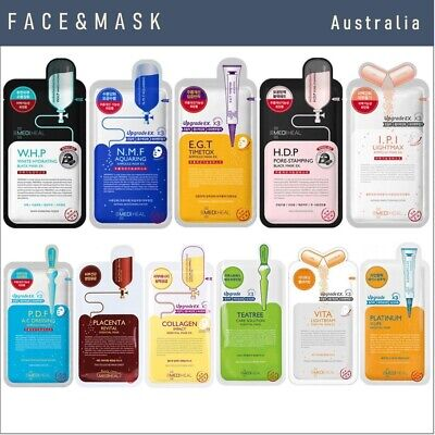 MEDIHEAL Essential and Ampoule Masks  ( 11 different varieties) - face masks