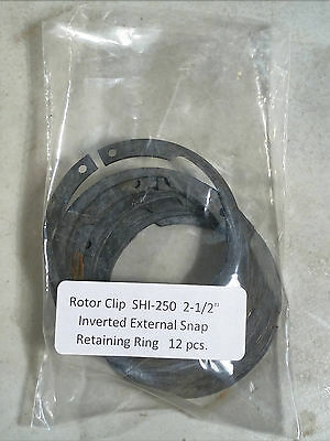 "2-1/2"" Inverted External Retaining Rings ROTOR CLIP SHI-250ST 12 pc."