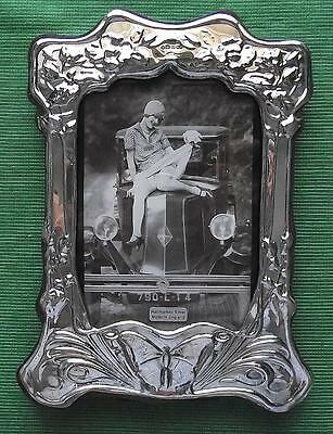 LARGE Edwardian Design  Hallmarked Sterling Silver Photo Frame : Butterfly