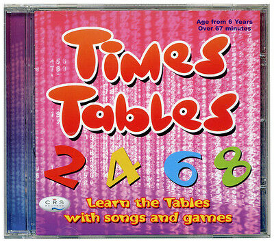 Times Tables CD incl Tables booklet. Songs, music & games CD  *NEW & WRAPPED*