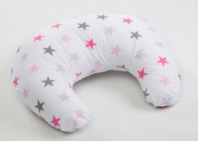 Nursing Breast Feeding Pillow Stars Pink Grey Cushion Baby Support Maternity