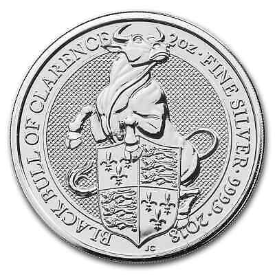 2018 Great Britain 2 oz Silver Queen's Beasts The Bull - SKU#163304