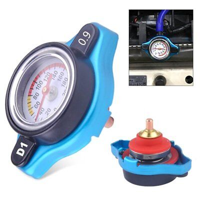 Car Moto 0.9Bar Thermo Thermostatic Radiator cap Cover water temperature Gauge F