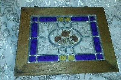"""stained glass window """"Very Vintage""""  17""""X 13 1/2"""""""