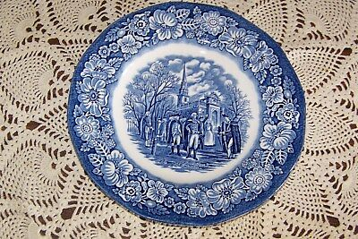 Staffordshire China - Liberty Blue - 7-inch Salad Plate (Exceptional Condition)