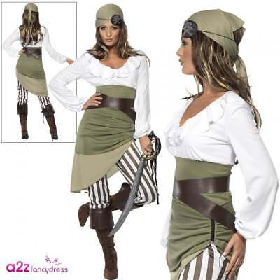 Ladies Shipmate Sweetie Pirate Costume Buccaneer Caribbean Fancy Dress Outfit
